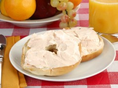 Pumpkin Cheese on Bagels