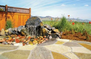 This landscape design by Ecoscape Environmental Design takes advantage of water, an important aspect of a spiritual garden. (photo by Ecoscape Environmental Design)