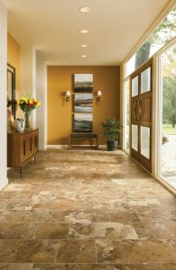 Engineered stone is ideal for water-susceptible areas, like kitchens, entries and baths. (Photo courtesy armstrong floor products, www.armstrong.com)