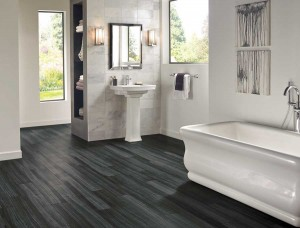 Luxury vinyl tile is durable and ideal for water-susceptible areas, like kitchens, entries and baths. (Photo courtesy armstrong floor products, www.armstrong.com)