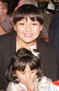 Vicki Reyes and her daughter