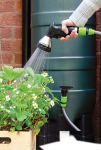 Collect the water in a watering can for use in the garden. (Photo by DJ Taylor)